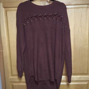 Sweaters - Sweater with criss cross detailing